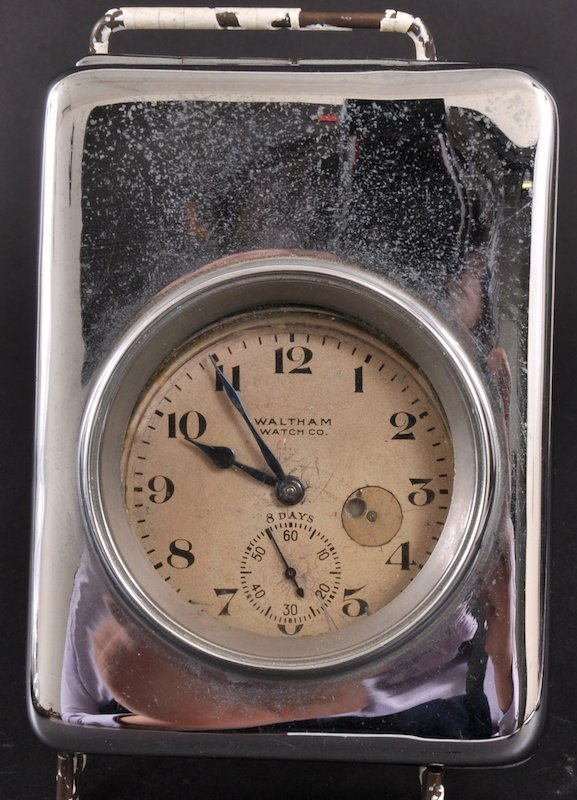 17: A LARGE WALTHAM WATCH CO POCKET WATCH in a large ch