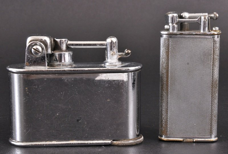 115: TWO OLD CHROME LIGHTERS.