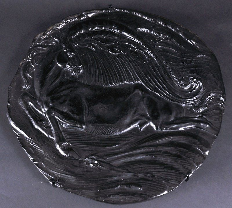 805: A ROSENTHAL LIMITED EDITION PEGASUS GLASS PLATE BY