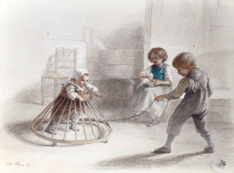 523: EDOUARD FRERE (1819-1886) FRENCH