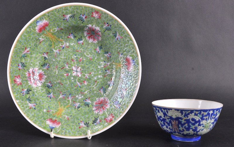 1:   A  19TH CENTURY CHINESE PORCELAIN ENAMELLED BOWL T