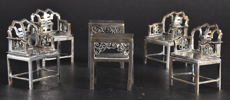 412: A LOVELY LATE 19TH CENTURY CHINESE SILVER MINIATUR