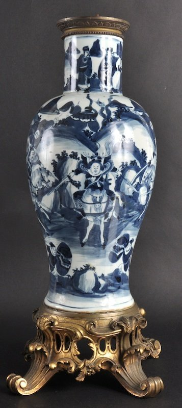 415:   AN EARLY 19TH CENTURY CHINESE BLUE AND WHITE BAL
