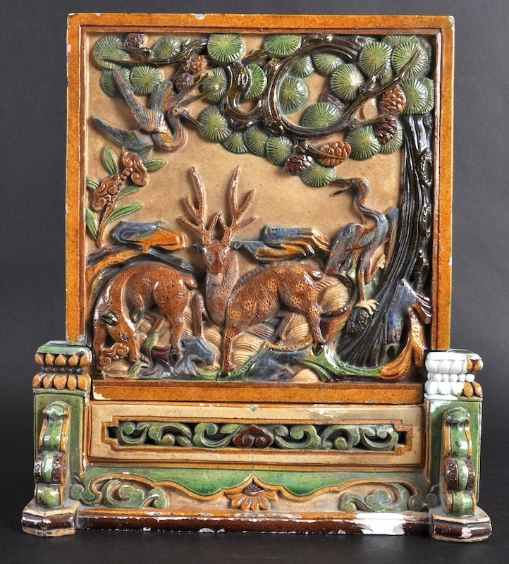 418:   A FINE AND RARE EARLY CHINESE POTTERY TABLE SCRE