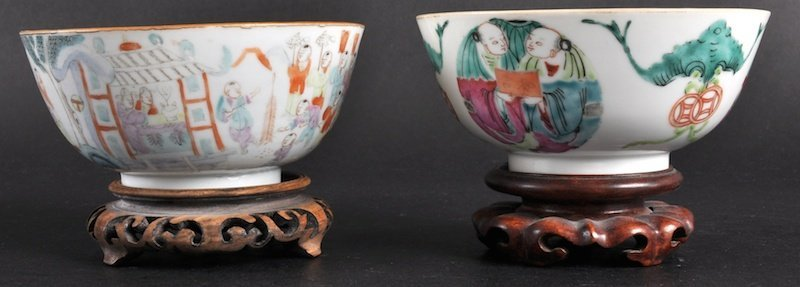 421:   A 19TH CENTURY CHINESE PORCELAIN ENAMELLED BOWL