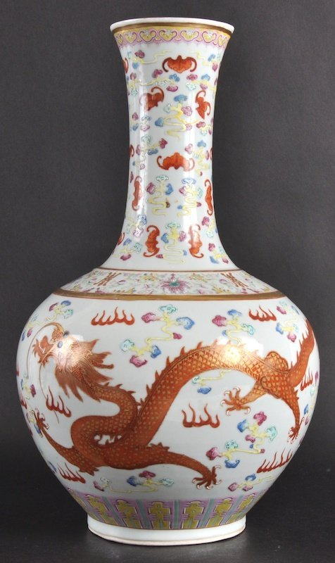 422:   A LATE 19TH CENTURY CHINESE PORCELAIN ENAMELLED