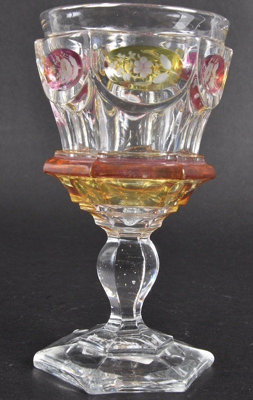 804: AN EARLY 20TH CENTURY CENTURY BOHEMIAN GOBLET with