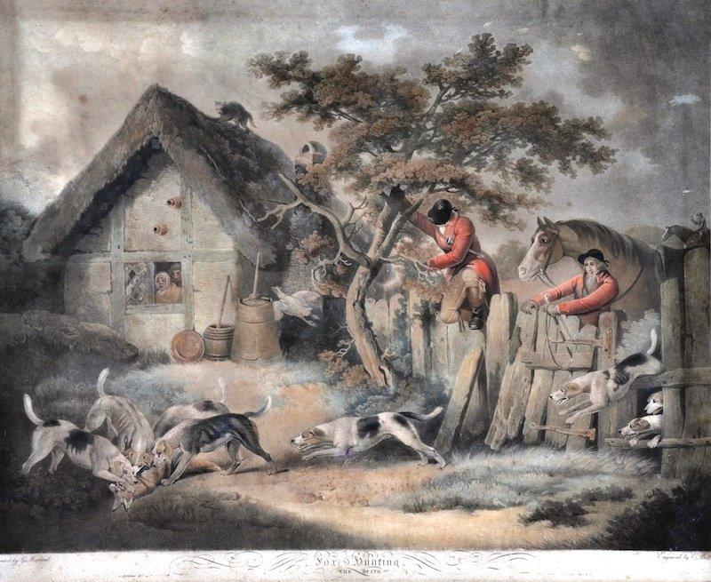 3: GEORGE MORLAND (1763-1804) BRITISH - Fox Hunting. Pl
