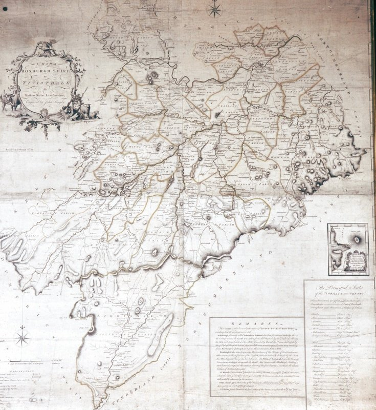 10: JOHN BAYLY - A Map Of Roxburghshire or Tiviotdale b