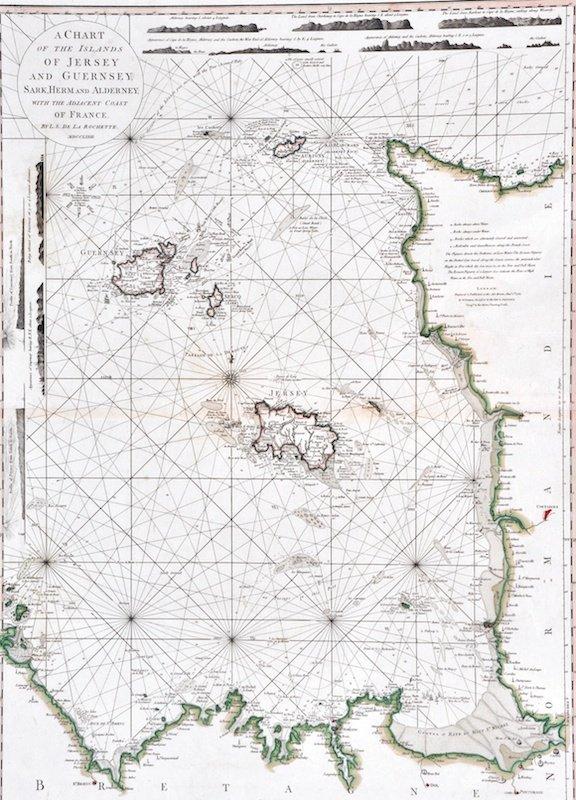 14: L.S DU LA ROCHETTE - A Chart Of Jersey, Guernsey, S