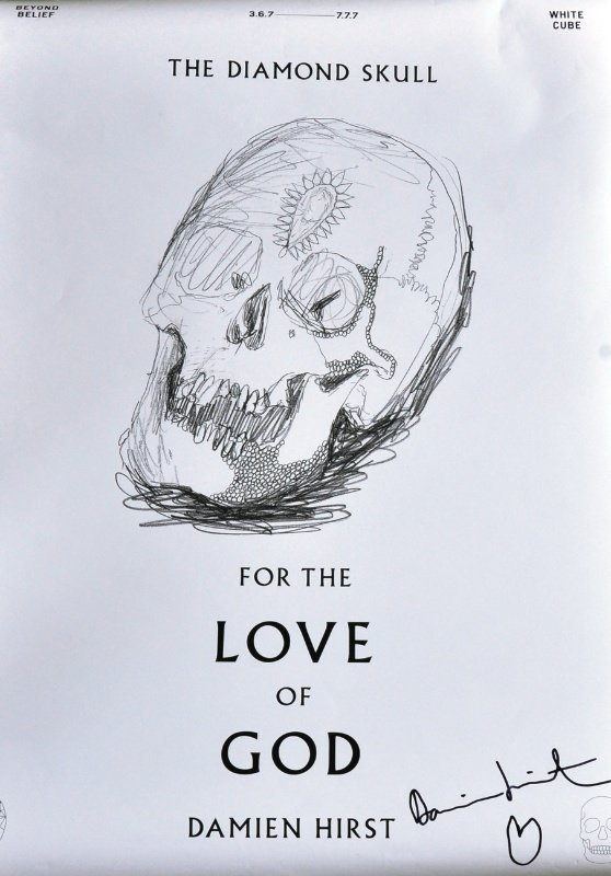 22: Damien Hirst (1965- ) BRITISH - The Diamond Skull.