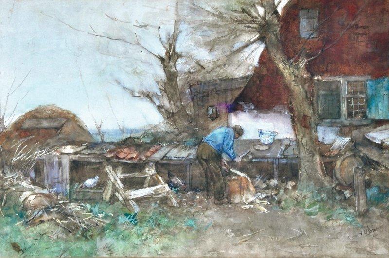 30: WILLEM HENDRIK VAN DER NAT (1865-1929) DUTCH - Man