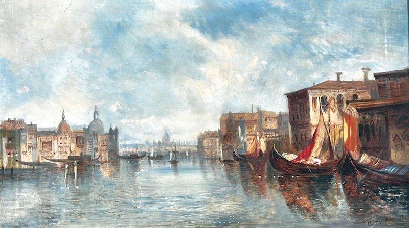 195: ALFRED POLLENTINE (1836-1890) BRITISH - Venetian S