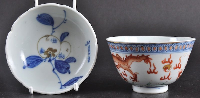 78: A 19TH CENTURY CHINESE PORCELAIN ENAMELLED TEABOWL