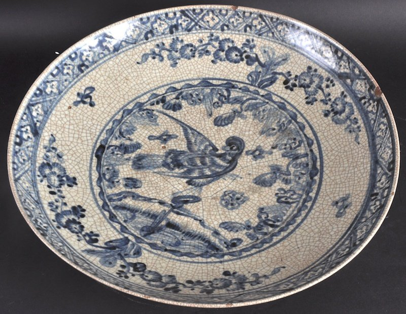 410:  A 16TH CENTURY CHINESE BLUE AND WHITE CIRCULAR DI