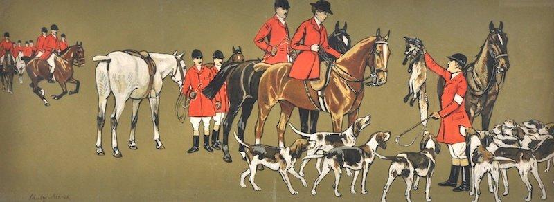 2:  Schultz-Blanck, (20th Century) a hunting scene, Pri