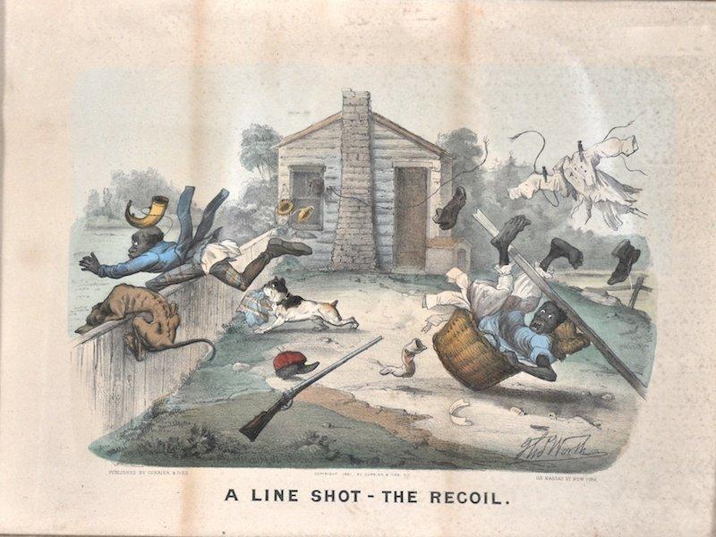 3:  Thomas Worth (1834-1917) American.  ' A LINE SHOT –