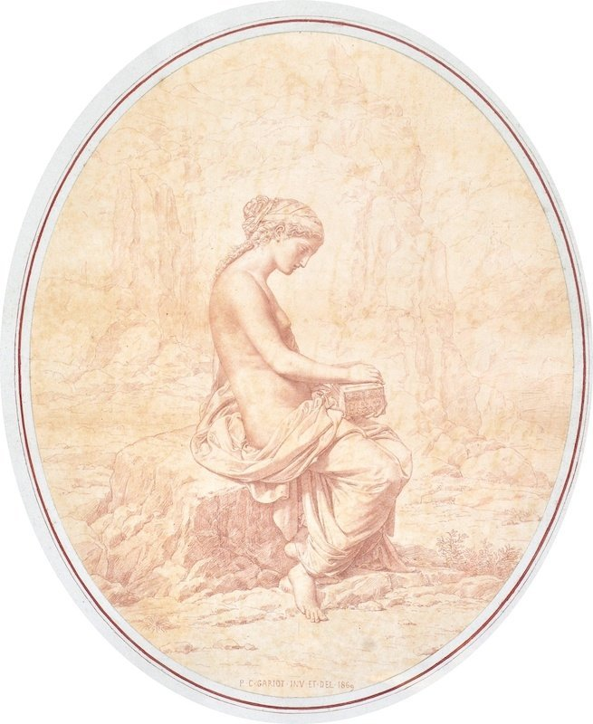 """5:  Paul Cesare Gariot (1811- ) French.  """"Pandora"""", Lit"""