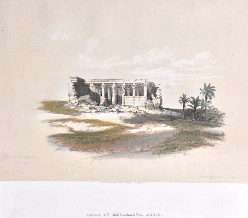 8:  David Roberts.  (1796-1864) British.  Ruins of Maha