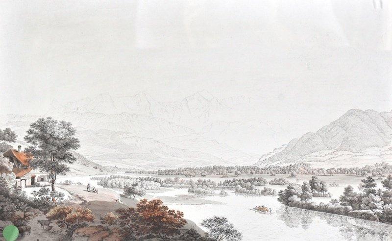 10:  Johan Ludwig Aberli.  (1723-1786) Swiss.  Swiss Al