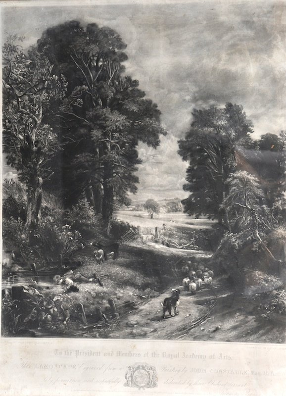 12:  David Lucas after Constable, The Cornfield and Ded