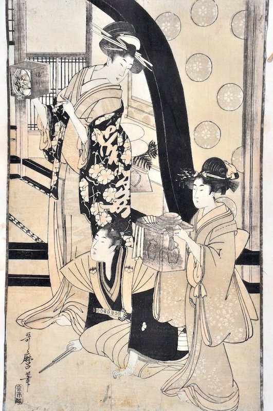 15:  Meiji School, A Pair of interior scenes, Prints, 1