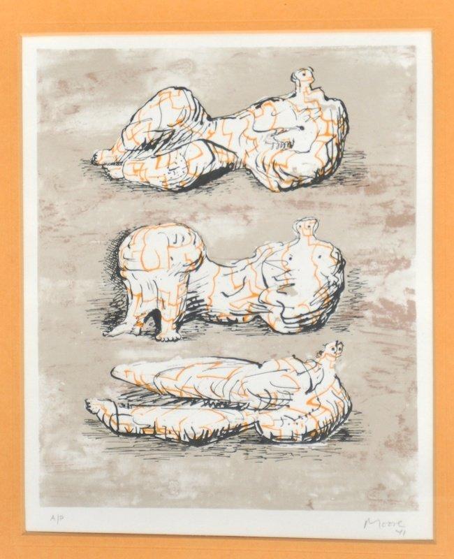 17:  Henry Moore (1898-1986) British.  'Reclining figur