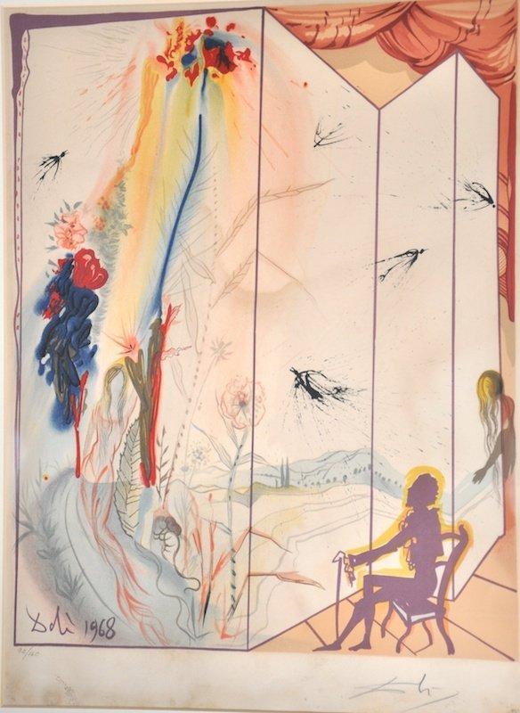 19:  Salvador Dali (1904-1989) Spanish.  'Dali 1968' a