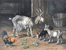120  Manner of Edgar Hunt  18761953 A Farm scene w