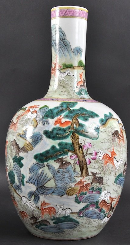 8: AN EARLY 20TH CENTURY CHINESE PORCELAIN ENAMELLED BU
