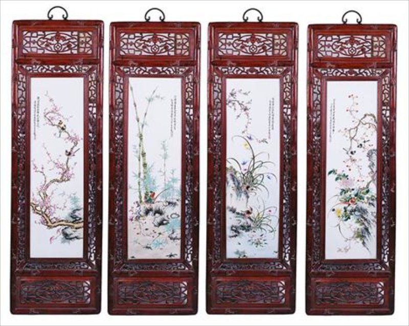 403:  A SET OF FOUR CHINESE REPUBLICAN PERIOD PAINTED P