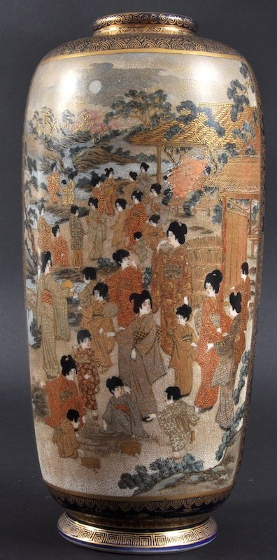 417:  A LATE 19TH CENTURY JAPANESE MEIJI PERIOD SATSUMA