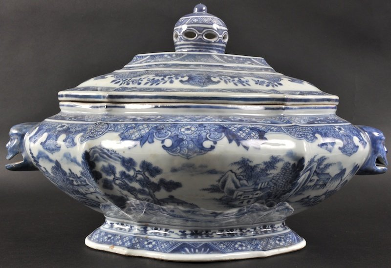 420: AN UNUSUAL 18TH CENTURY CHINESE EXPORT 'SILVER SHA
