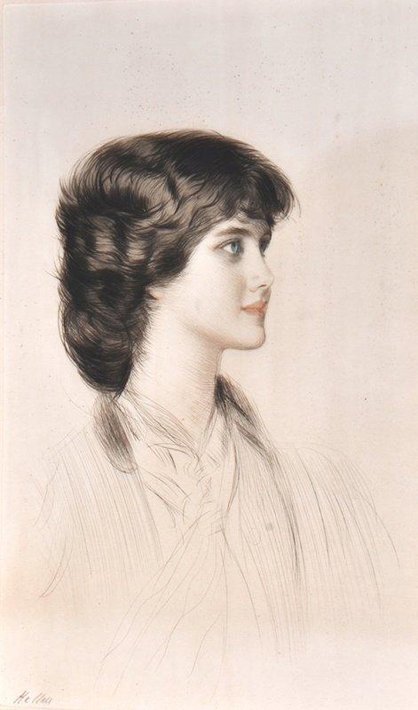 1002: Paul Cesar Helleu (1859-1927) French. An Elegant