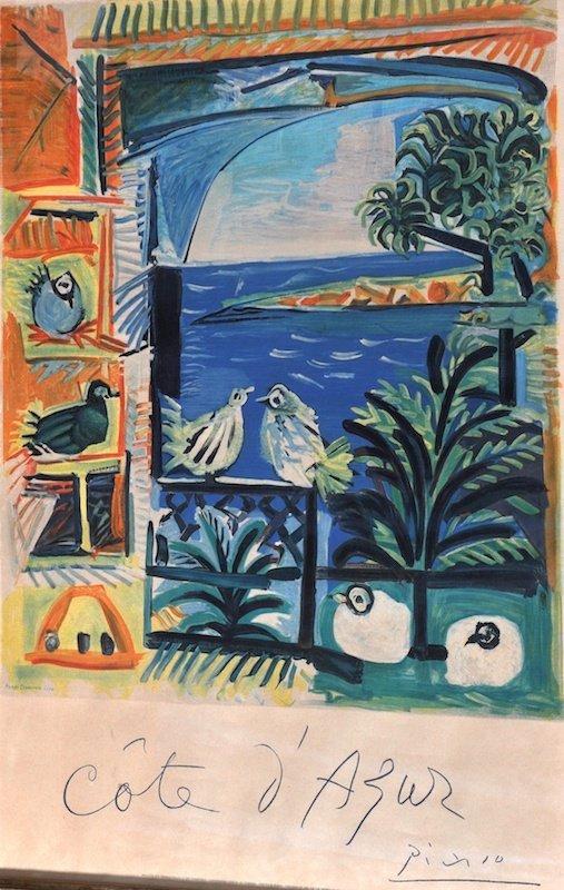 """1003: Pablo Picasso (1881-1973) Spanish. """"Cote d'Azur"""","""