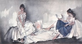 Sir William Russell Flint (1880-1969) British. Tw