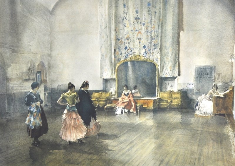 1008: Sir William Russell Flint (1880-1969) British. 'A