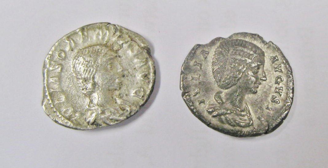 1305:  Roman, Julia Soemias (218), denarius; with Julia