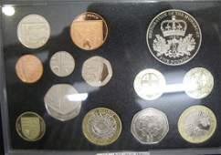 1399  Elizabeth II deluxe proof set 2011 5 Monarchy