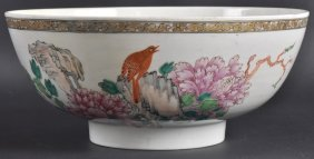 21: AN 18TH CENTURY CHINESE EXPORT CIRCULAR BOWL enamel