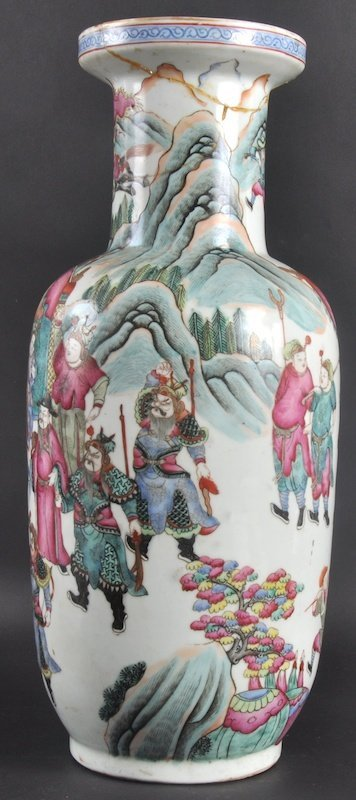 65:  A 19TH CENTURY CHINESE PORCELAIN ENAMELLED ROULEAU - 2