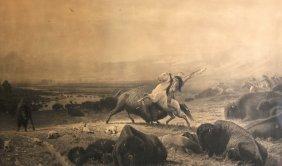 Albert Bierstadt (1830-1902) American. 'The Last of the
