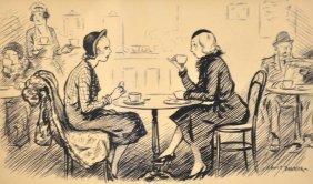 """Lewis Christopher Edward Baumer (1870-1963) British. """"W"""