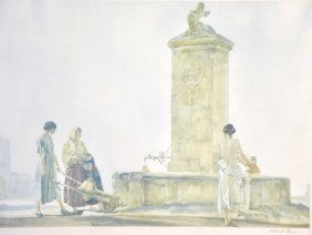 Sir William Russell Flint (1880-1969) British. �The Whi