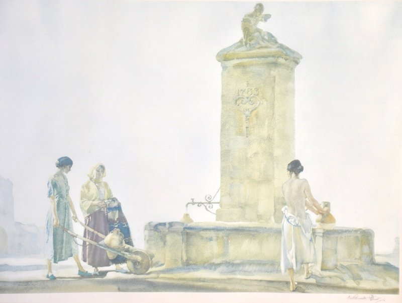"""Sir William Russell Flint (1880-1969) British. """"The Whi"""