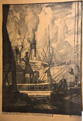 Leslie Moffat Ward (1888-1978) British. 'The Cape Liner
