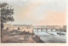 I… Hill (18th Century) 'Paris', Square and Bridge of th