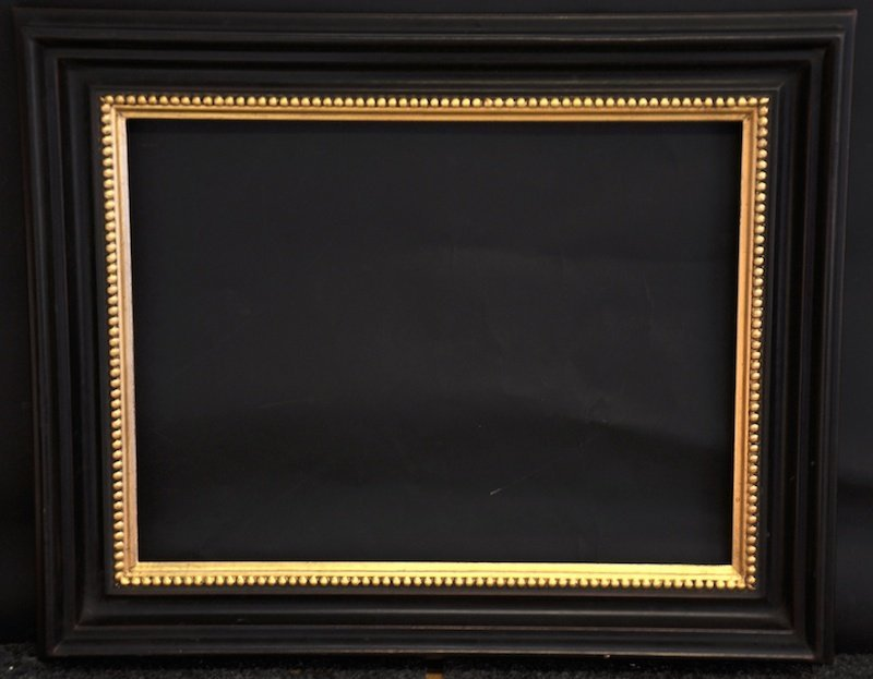 """20th Century Dutch Style. A Black and Gilded Frame, 16"""""""