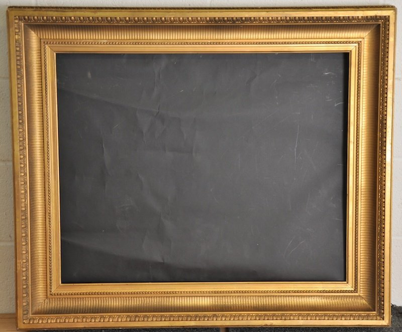 19th Century English. A Hollow Ribbed composition frame
