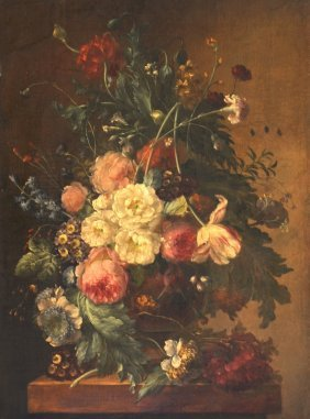 18th Century Dutch School Style. Still life of flowersi